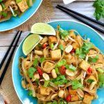 Vegan pad thai is deliciously sweet, sour, savory, spicy and refreshing at the same time. Fried tofu and peanuts add extra protein and crunch. Make your own pad thai sauce to be sure it's totally vegan friendly.