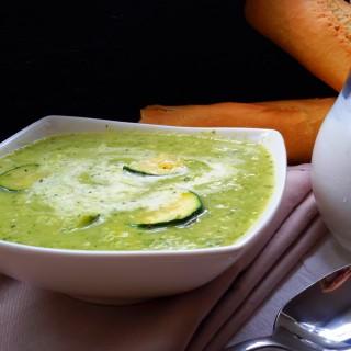 Cream of Leek and Zucchini Soup