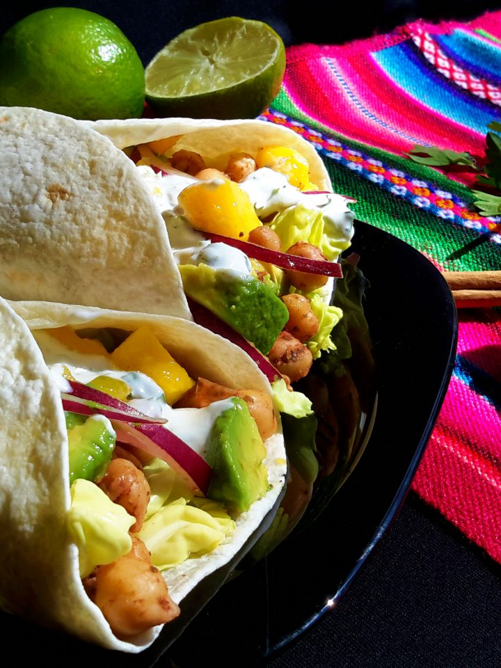 Jamaican Jerk Chickpea Tacos - From Cilantro and Citronella