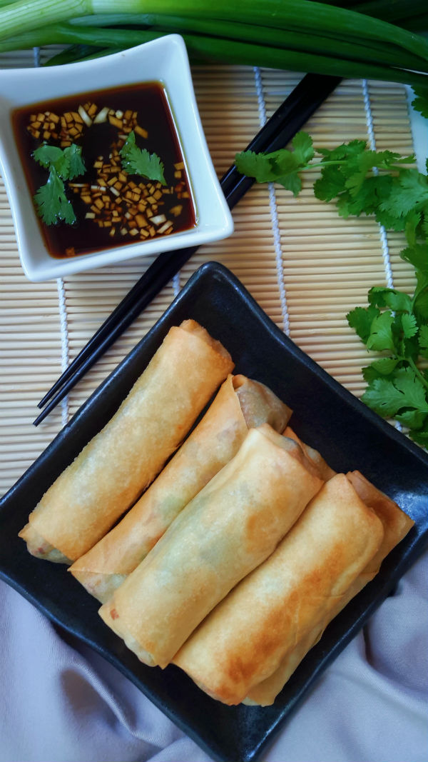 Vegetable Egg Rolls | Cilantro and Citronella Vegetarian Egg Rolls