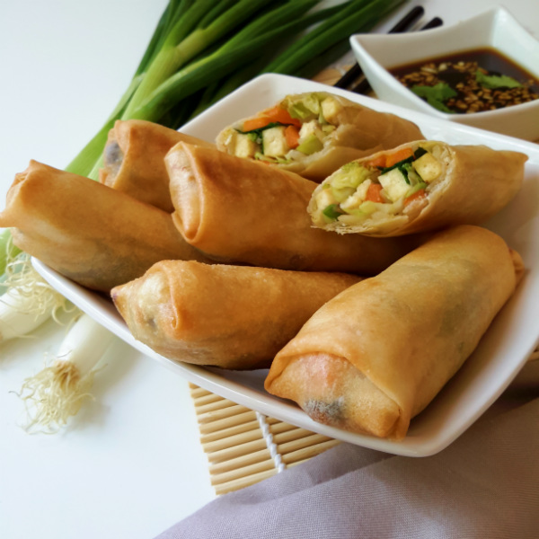 Vegetable Spring Rolls: A vegan version of these tasty treats