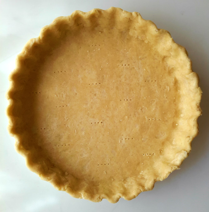 Coconut oil vodka pie crust is super flaky and perfect for any vegan sweet or savory pie.
