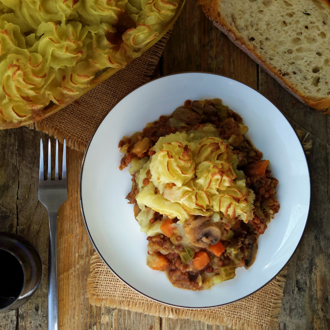 Easy vegetable shepherd's pie to warm you up on a cold evening. Packed ...