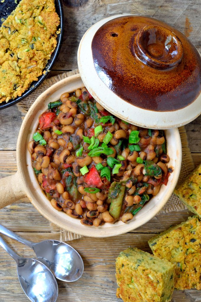 Smoky Vegetarian Black-Eyed Peas and Greens | Cilantro and ...