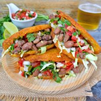 These vegan gorditas are full of fresh corn-y, street foody-y goodness. They look simple but will definitely fill you up! Great for lunch or dinner.