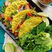 Vegan Banh Xeo (Vietnamese Crepes)
