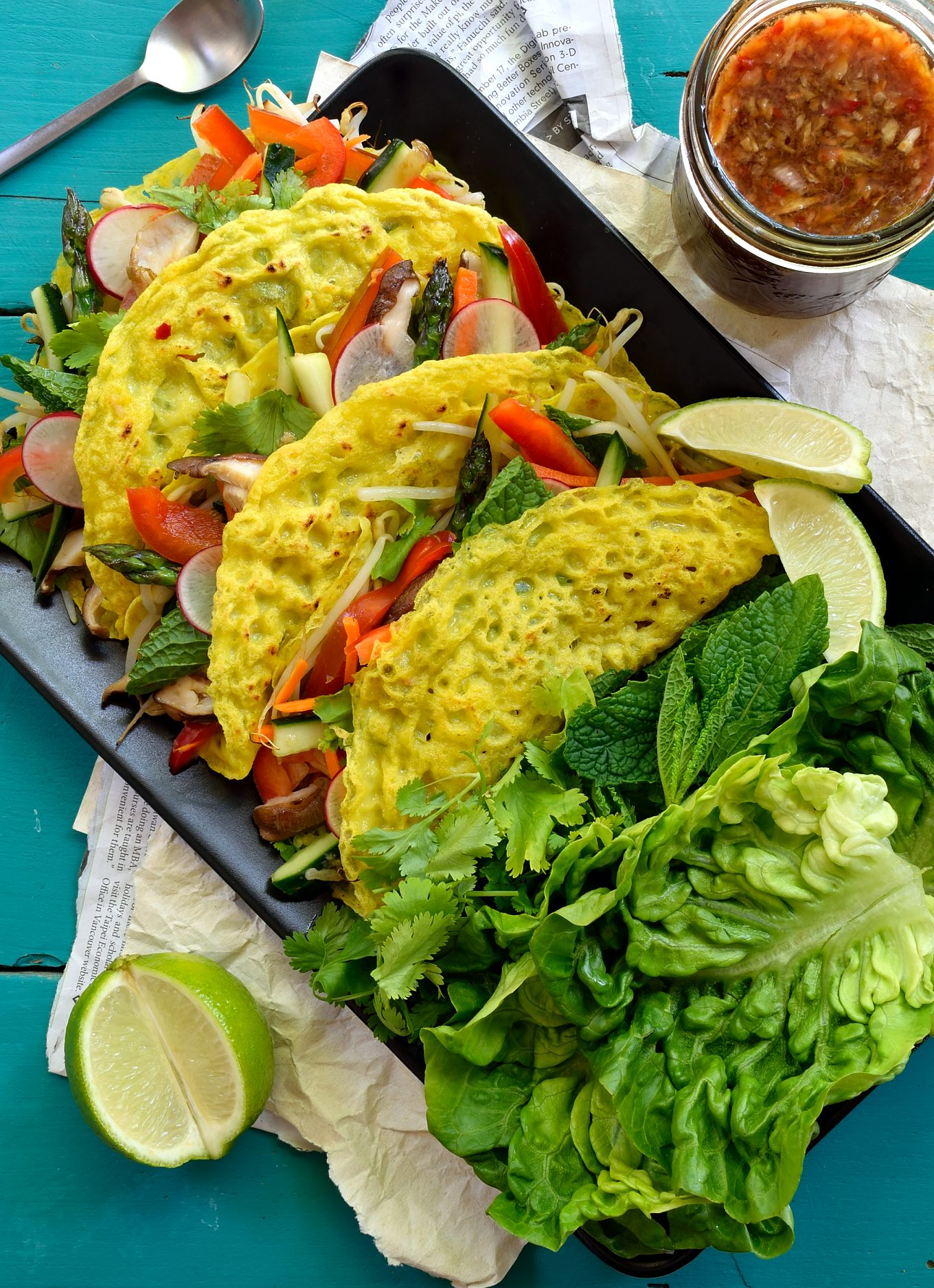 Vegan Banh Xeo (Vietnamese Crepes) | Cilantro and Citronella