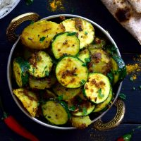 Indian-Spiced Potatoes and Zucchini