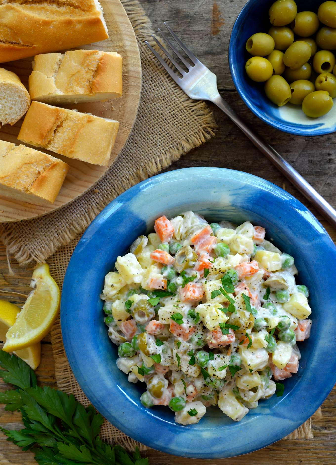 Spanish potato salad ensaladilla rusa cilantro and citronella heres a recipe for another uber typical spanish tapa ensaladilla rusa or vegan russian forumfinder Image collections
