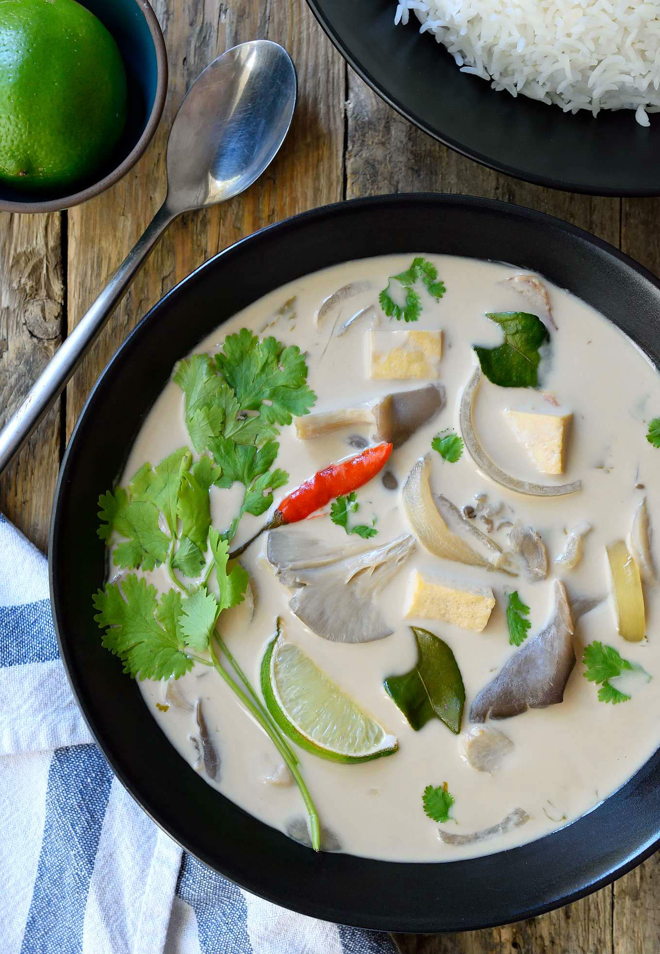 Vegan thai coconut soup cilantro and citronella this vegan thai coconut soup is a light and tasty totally vegetarian version of tom forumfinder Image collections