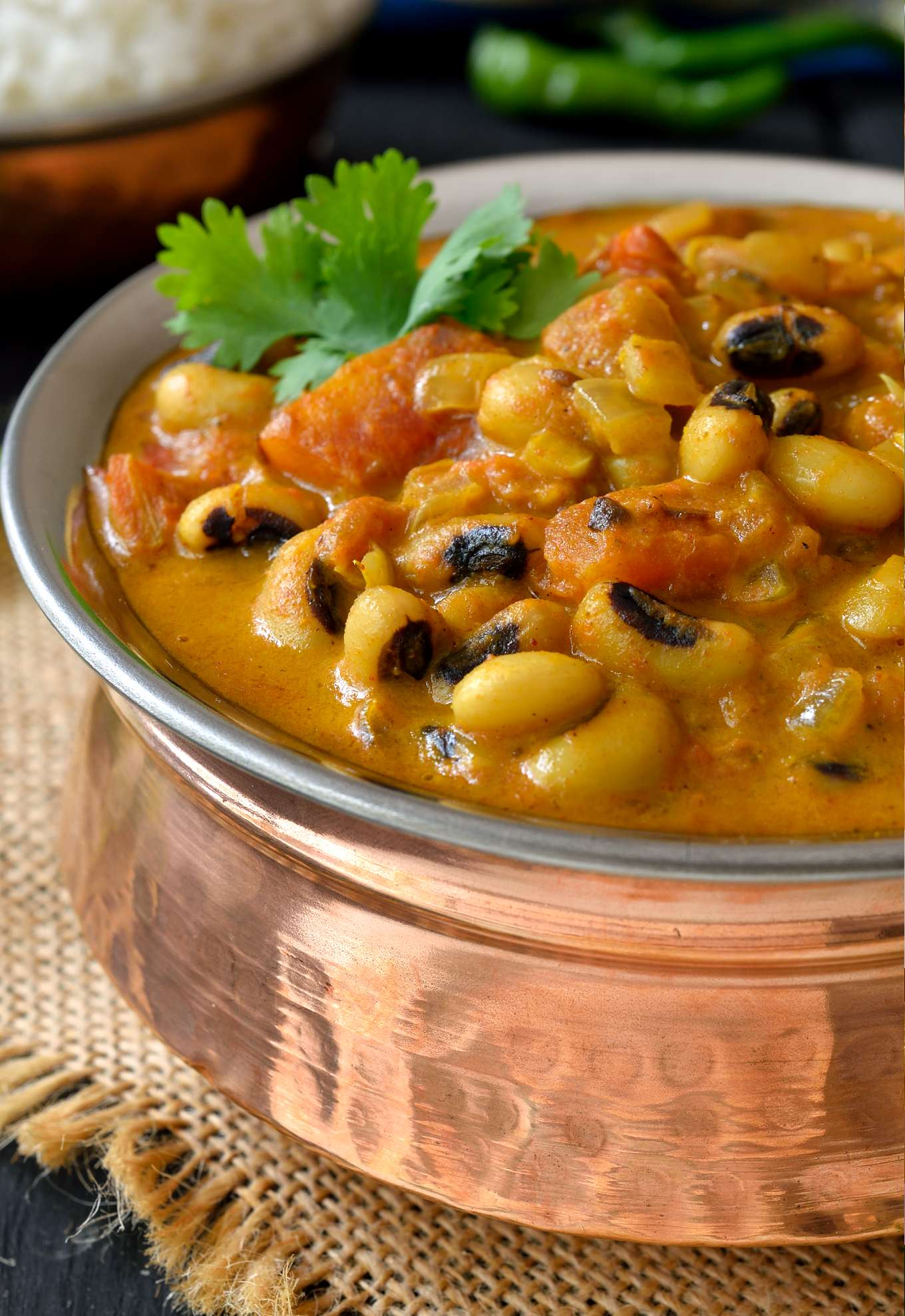 Curried Vegetarian Black Eyed Peas Recipe Cilantro And Citronella