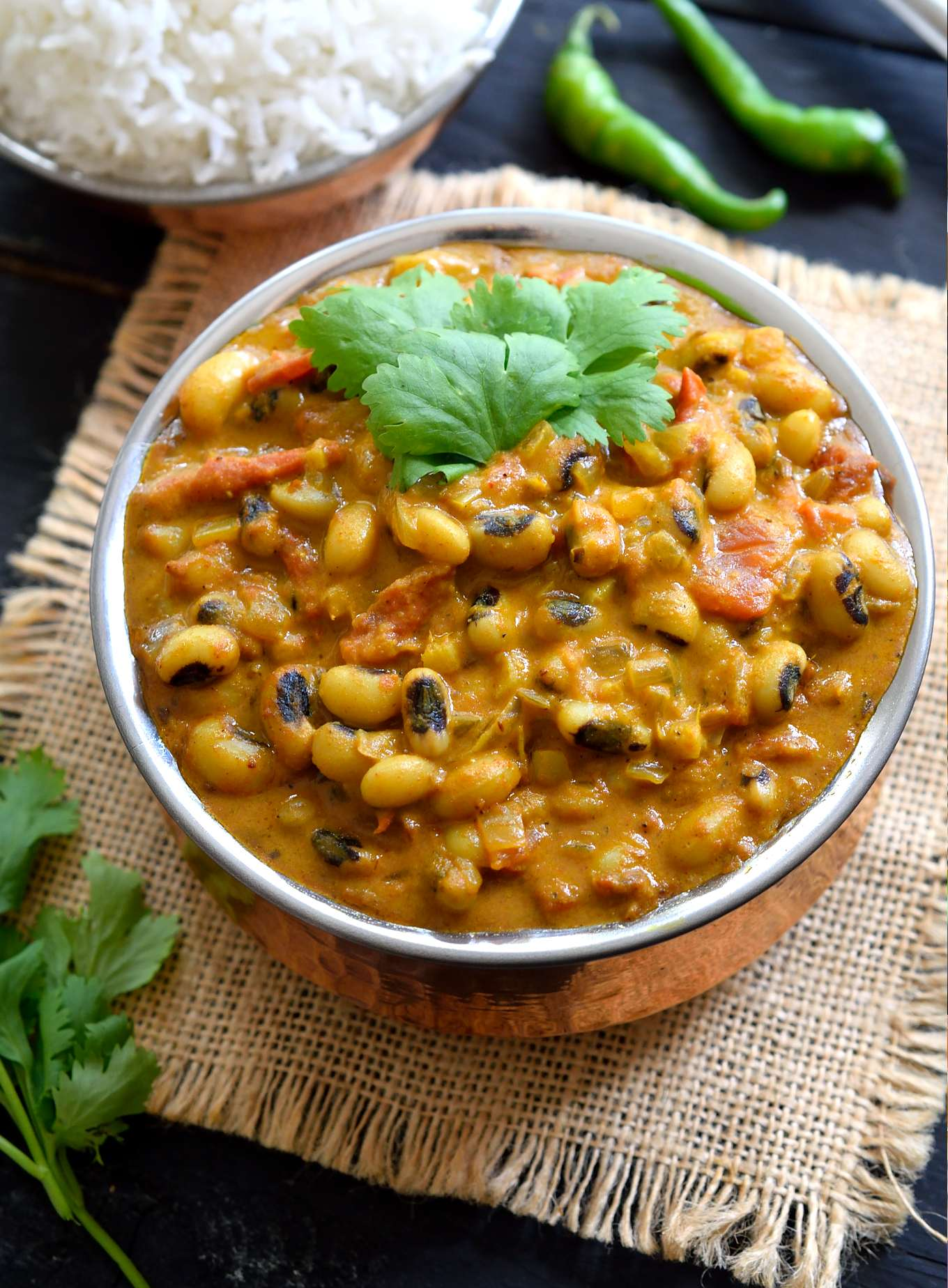 Curried vegetarian black eyed peas recipe cilantro and citronella this curried vegetarian black eyed peas recipe is an easy to prepare lightly forumfinder Images
