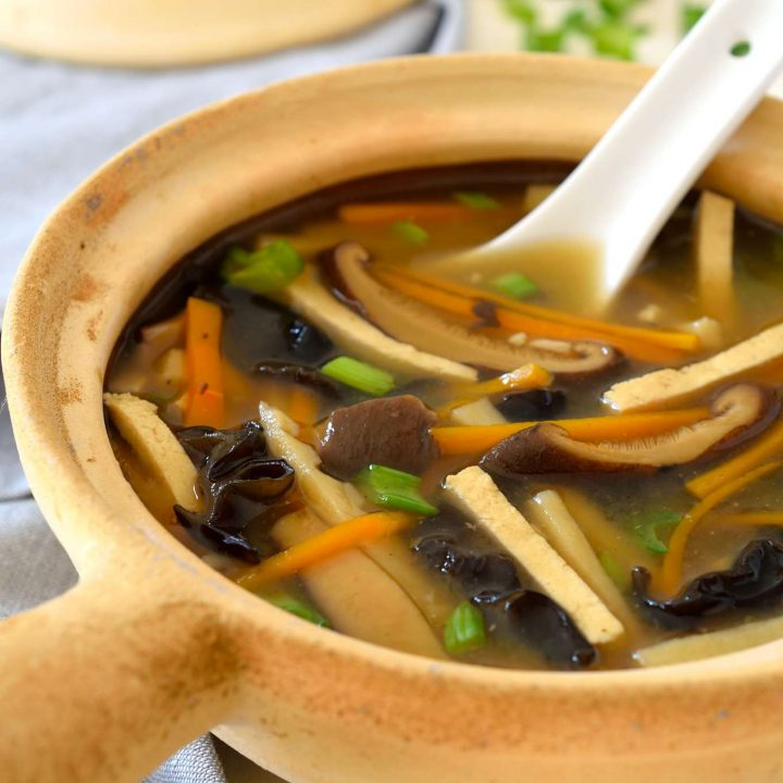 Vegan hot and sour soup is just as tasty as takeout and guaranteed to be totally plant-based. Great for a chilly fall or winter evening, this soup is ready in only 20 minutes.