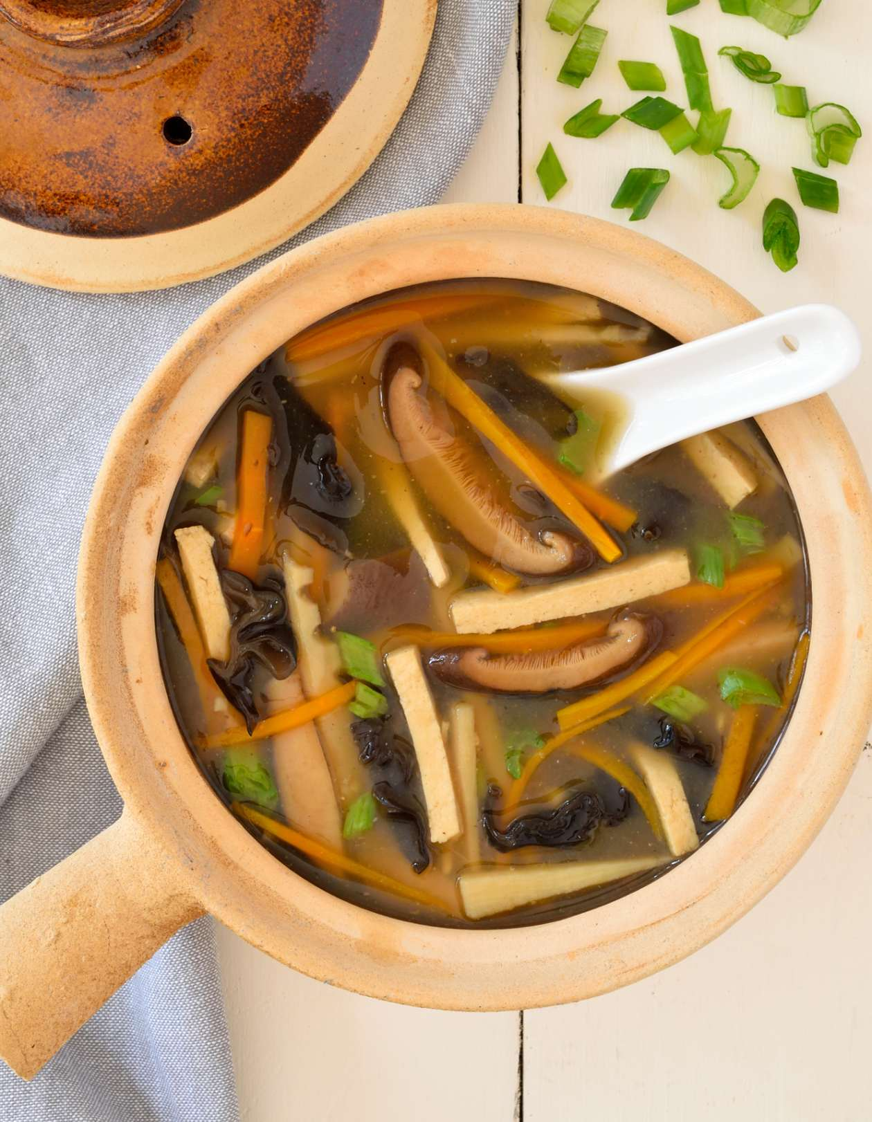 Vegan hot and sour soup is just as tasty as takeout and guaranteed to be totally plant-based. Great for a chilly fall or winter evening, this soup is ready in only 40 minutes