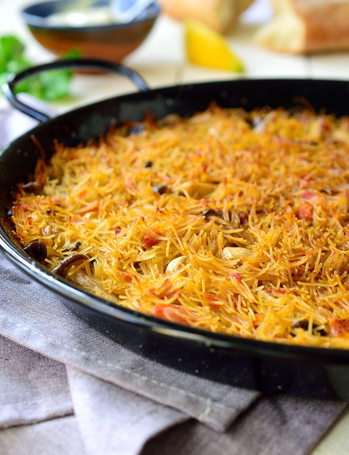... spanish noodle paella vegan fideua spanish noodle paella recipe on