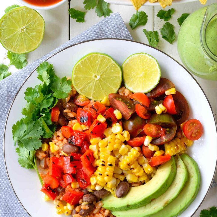 Grilled Veggie Vegan Burrito Bowl
