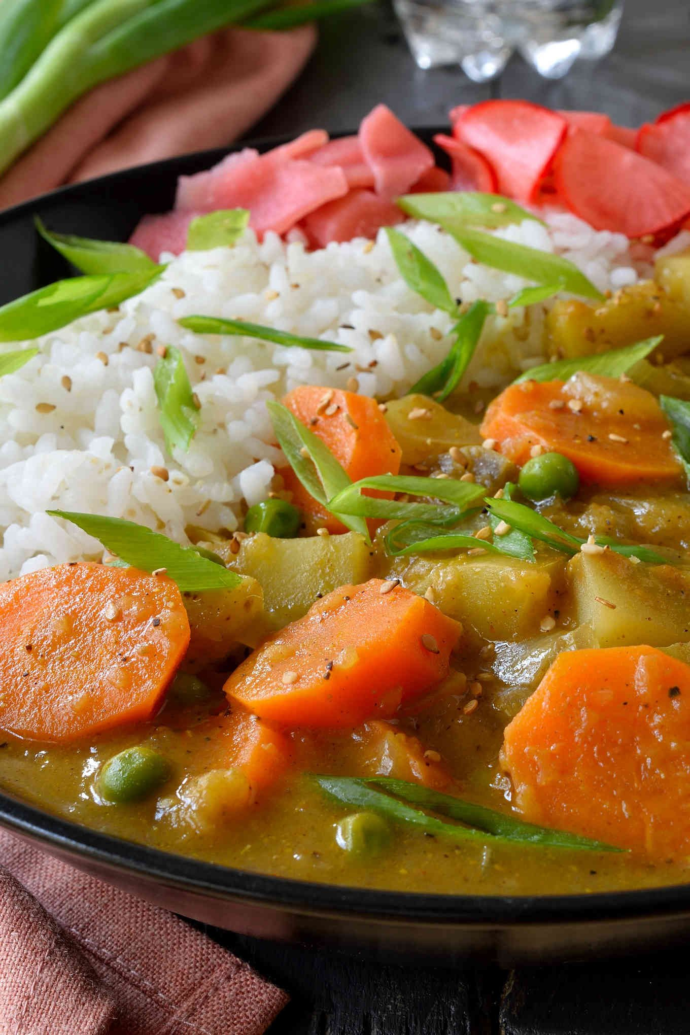 Vegan Japanese Curry Cilantro And Citronella