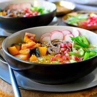 Kabocha Squash Soup with Soba