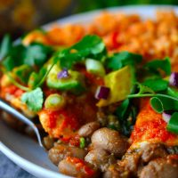 Smoky Pinto Bean Enchiladas