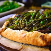 Spring Vegetable Vegan Galette