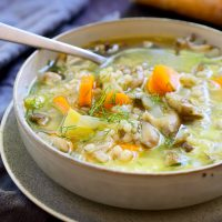 Vegan Mushroom Barley Soup