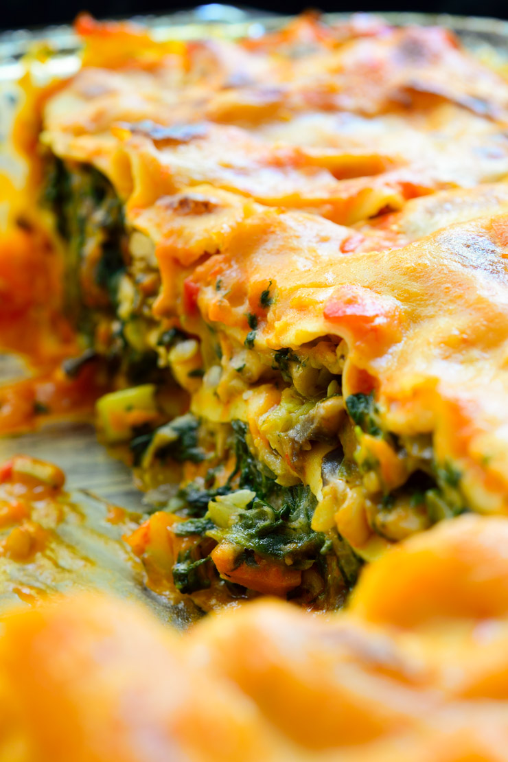 A delicious, creamy vegan lasagna with no tofu or fake cheese products!