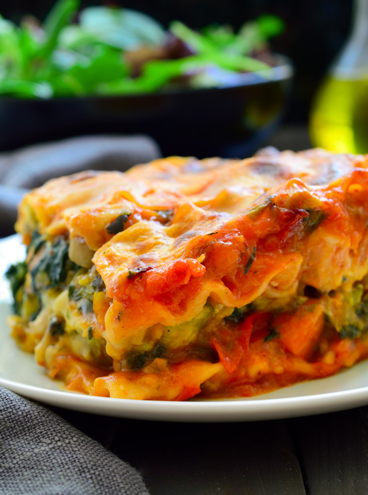 This vegan lasagna is packed with veggies, flavourful and creamy without a shred of fake vegan cheese or tofu!