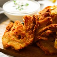 Vegan Fried Artichokes with Creamy Lemon-Garlic Sauce