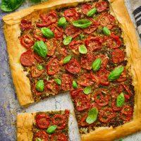 Vegan Tomato Pesto Tart