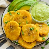 Patacones or Tostones: Fried Green Plantains