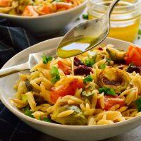 Roasted Winter Vegetable Orzo Salad