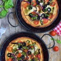 Chickpea Flour Pizza with Hummus