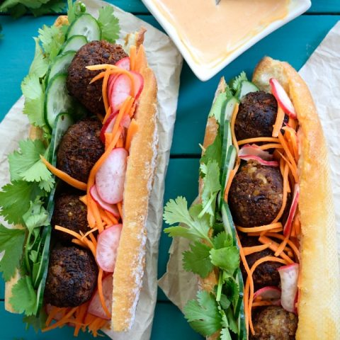 Vegan Meatball Banh Mi