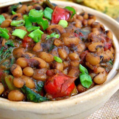 Smoky Vegetarian Black-Eyed Peas and Greens