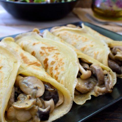 Creamy Mushroom Crêpes