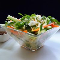 Vietnamese Rice Noodle Salad with Vegetables and Mixed Herbs