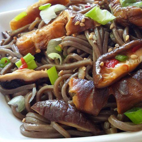Soba Noodles with Shiitake Mushrooms