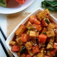Kung Pao Tofu with Watermelon