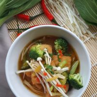 Tofu Puff and Vegetable Miso Soup