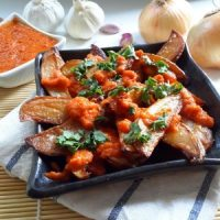 Smoked Patatas Bravas (How to Smoke on Your Stove Top)